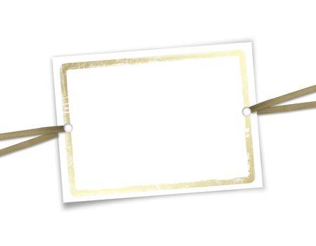 Framework for invitations. White isolated background. Stock Photo