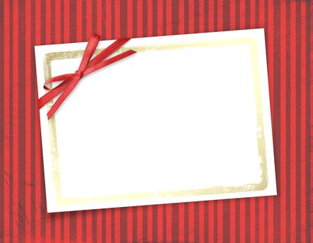 scratch card: Frame for invitations. Abstract striped background.