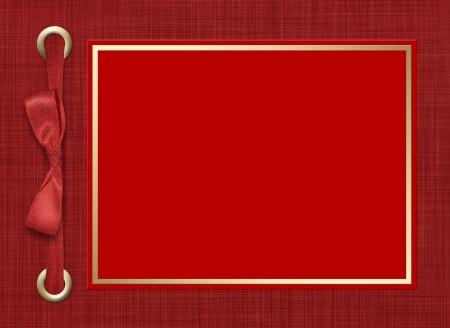 wedding photo frame: Quadro per una foto o inviti. Un rosso prua. Un bellissimo sfondo.