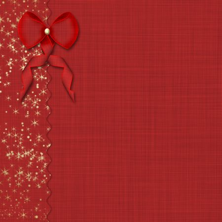 paper cutting: Red bow and beautiful background Stock Photo