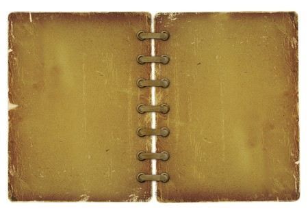 scrap metal: Grunge cover for album with ribbons on the white isolated background