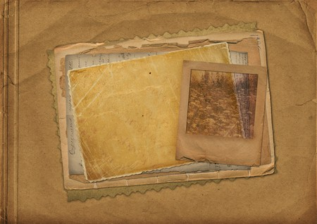 Old papers and grunge slide with space for text or image photo