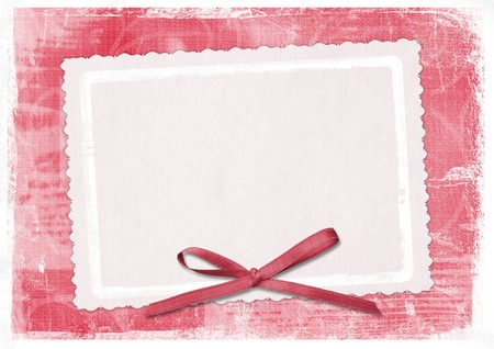 Tarjeta roja para el saludo de estilo retro