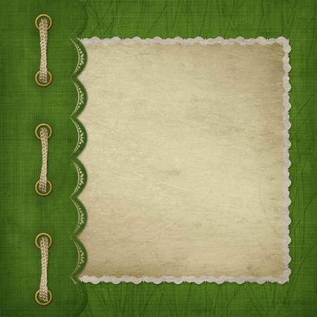 Cover with gold clip and  braid. Design album for St. Patricks Day