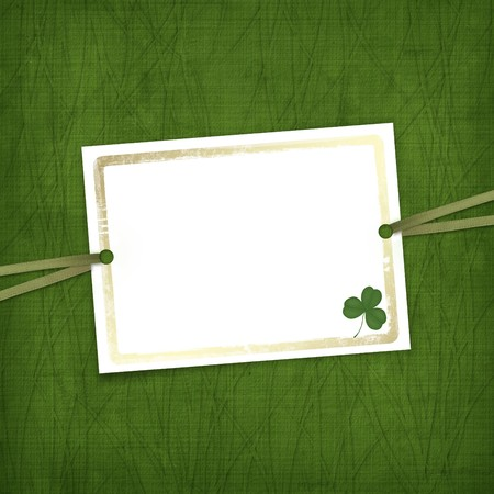 Old invitation for holiday with ribbons on the grunge background Stock Photo - 4318504