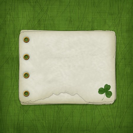Design album for St. Patricks Day with leaf clover photo