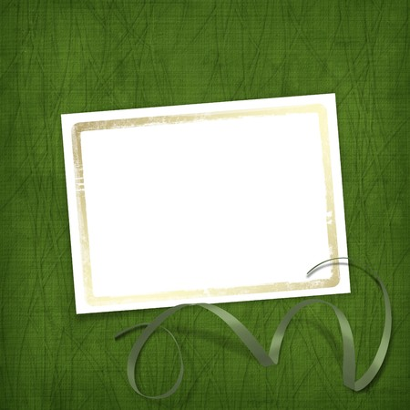 Old invitation for holiday with ribbons on the grunge background Stock Photo - 4318503