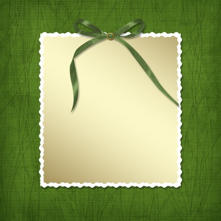 Framework for invitations. A green bow. Design album for St. Patrick's Day Stock Photo - 4318502