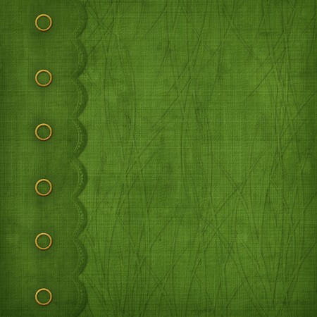 Cover with gold clip and  braid. Design album for St. Patrick's Day Stock Photo - 4337682