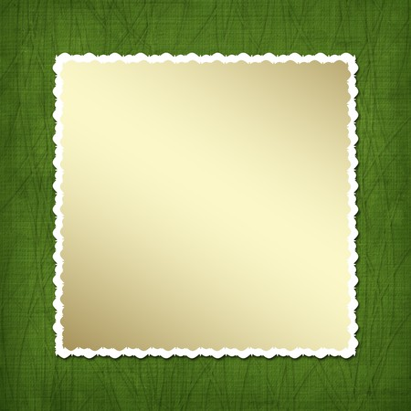Gold framework for invitations. Design album for St. Patrick's Day Stock Photo - 4344986