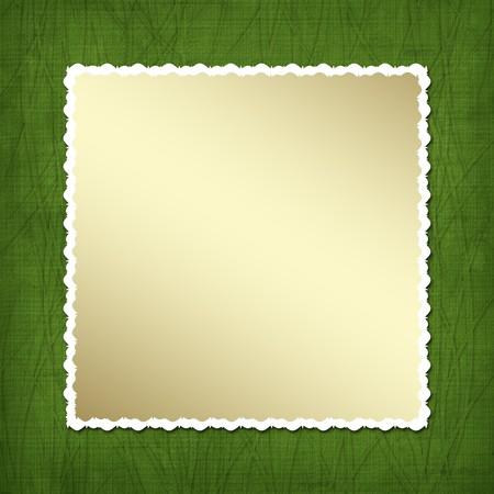 Gold framework for invitations. Design album for St. Patricks Day