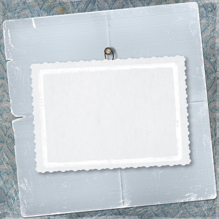 thumbtack: Old frame for congratulation or greeting on the abstract background
