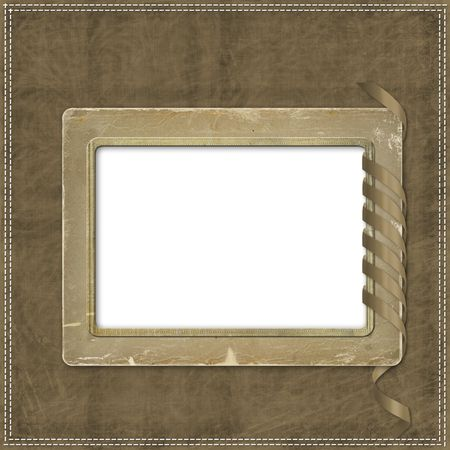 lacet: Beige abstract background with and frames and streamer