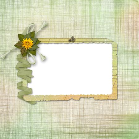 ornamente: Grunge papers design in scrapbooking style with frame and bunch of flowers