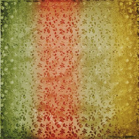 Grunge vintage multicoloured background with floral ornament Stock Photo - 4947570