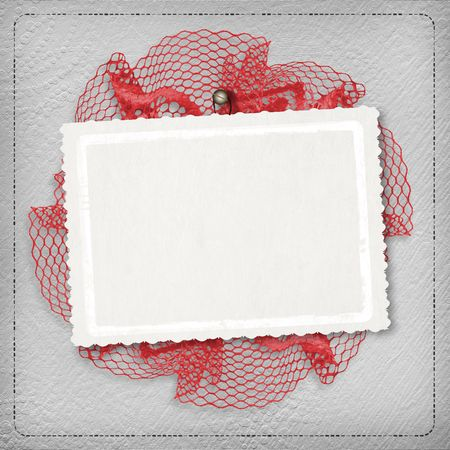Silver abstract background with card for greeting or congratulation Stock Photo - 5110909