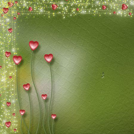 wedding photo frame: Card per congratulazioni o anniversario con il cuore