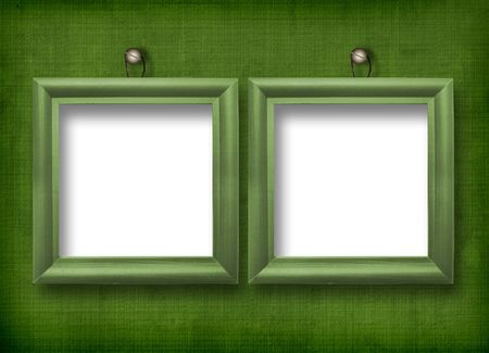 Two wooden frameworks for portraiture on the abstract background Stock Photo - 5177615
