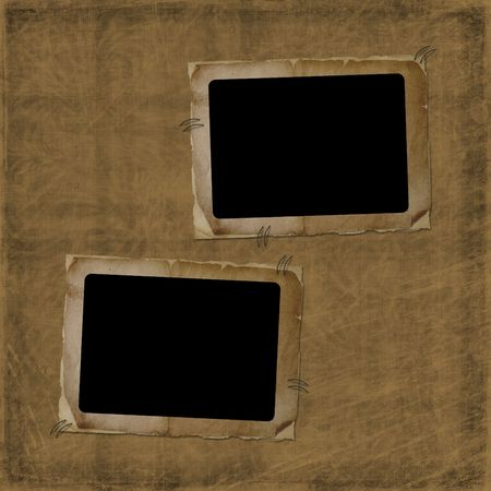 Two Old photo frame on the abstract background photo