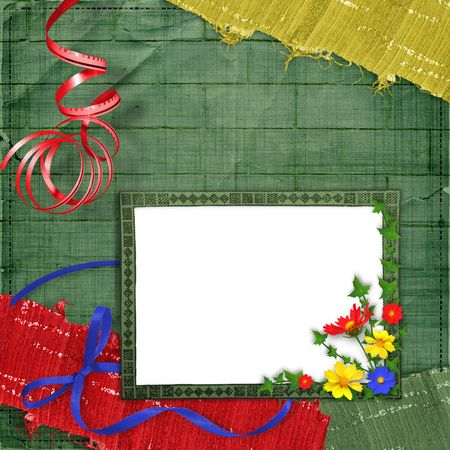 lacet: Card for greeting or congratulation on the abstract background