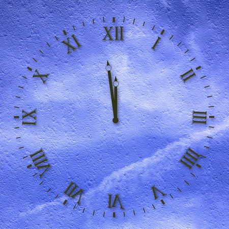 winder: Antique clock face on the abstract background