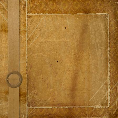 ornamente: Grunge ornamental cover for an album with photos