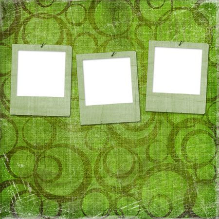 Three grunge slides from old papers on the abstract background Stock Photo - 5300605
