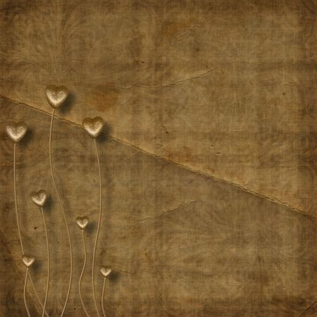 Card for photo with hearts on the abstract background photo