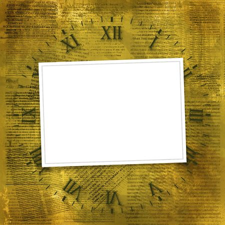 Old photoframes are hanging on the abstract background Stock Photo - 5328903