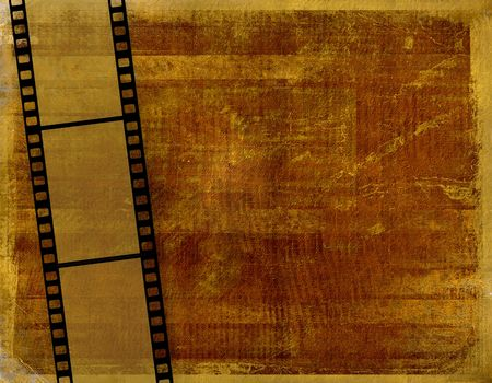 Old paper in grunge style with filmstrip photo