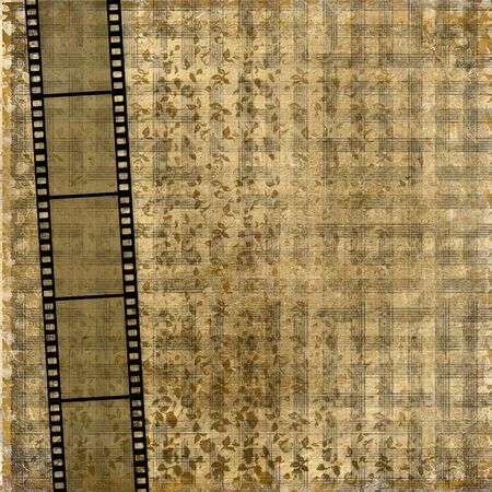 antiquarian: Old paper with ancient ornament and filmstrip