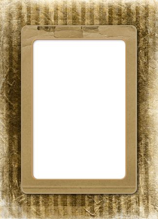 alienated: Grunge alienated frame from old paper on the striped background Stock Photo