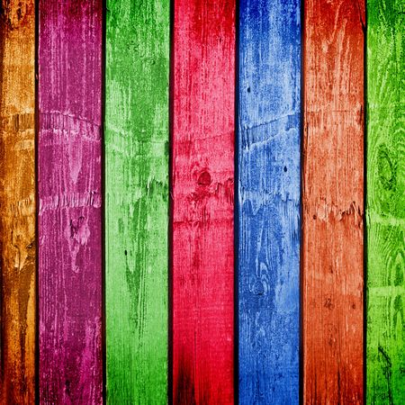 Weathered multicolor wooden planks. Abstract backdrop for illustration Stock Photo