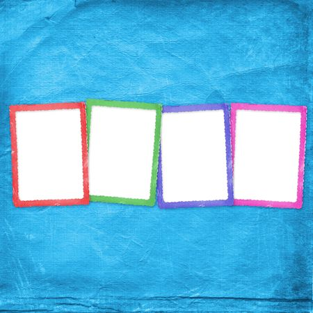 Four multicolored frames on the abstract background Stock Photo - 5607481