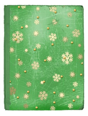 Grunge cover for an book or album with snowflakes and stars  photo