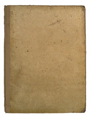 Page of the old book on white background photo