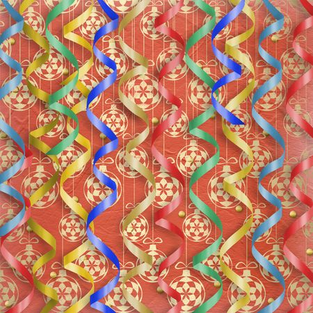 lacet: Card with multicolor streamers to holiday on the abstract background