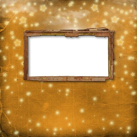 Old frame invitations attached to wooden wall Stock Photo - 5681719