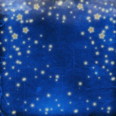 gold star mother's day: Blue cheerful background with multicolored confetti and stars Stock Photo