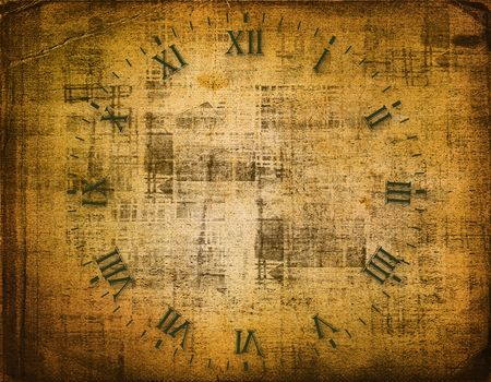 Antique clock face on the abstract background Stock Photo - 5720856