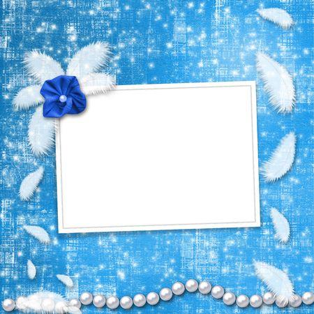 feather boa: Festive invitation or congratulations for a wedding, christening