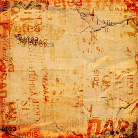 Grunge abstract background with old torn posters photo