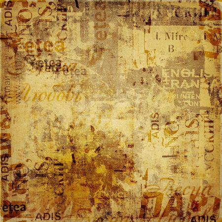 urban decay: Grunge abstract background with old torn posters