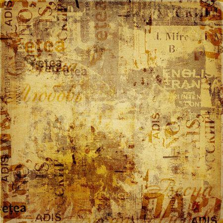 Grunge sfondo astratto con vecchi manifesti strappati