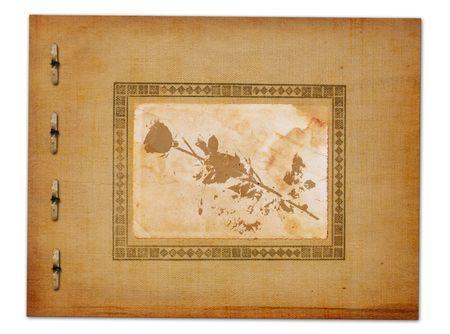 Grunge alienated paper design in scrapbooking style photo
