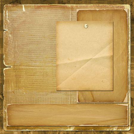 Card for invitation or congratulation in scrapbooking style design photo