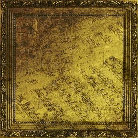 Wooden frame in Victorian style on the abstract ancient background Stock Photo - 5857637