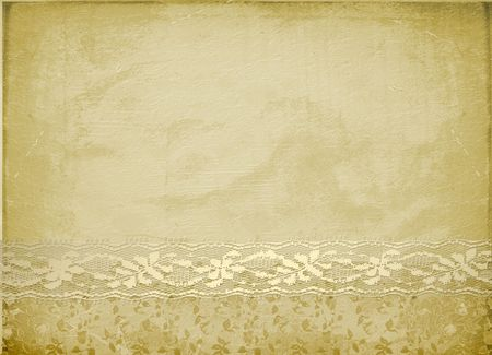 Card for invitation or congratulation with lace photo