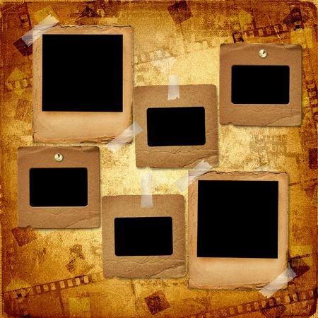 Old grunge slides on the ancient background Stock Photo - 5972517
