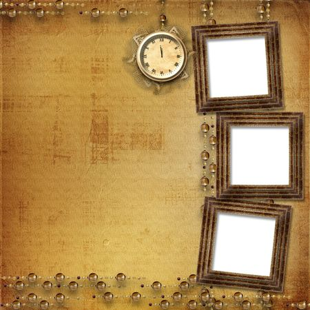 Antique clock face with lace on the abstract background Stock Photo - 5988690